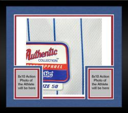 Framed Anthony Rizzo Chicago Cubs Autographed Team Issued White Pinstripe Jersey