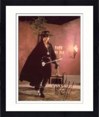 Framed Antonio Banderas Autographed 8'' x 10'' Zorro Zorro Photograph