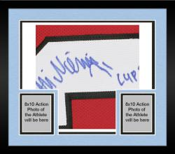 """Framed Antti Niemi Autographed Jersey Chicago Blackhawks with """"Cup 2010"""" Inscription"""