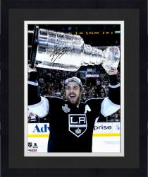 Framed Anze Kopitar Los Angeles Kings 2014 Stanley Cup Champions Autographed 16'' x 20'' Raising Stanley Cup Photograph - Mounted Memories