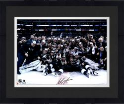 """Framed Anze Kopitar Los Angeles Kings 2014 Stanley Cup Champions Autographed 16"""" x 20"""" Stanley Cup Team Celebration Photograph"""