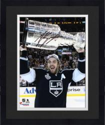 Framed Anze Kopitar Los Angeles Kings 2014 Stanley Cup Champions Autographed 8'' x 10'' Raising Stanley Cup Photograph - Mounted Memories