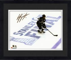 Framed Anze Kopitar Los Angeles Kings 2014 Stanley Cup Champions Autographed 8'' x 10'' Stanley Cup Final Over Logo Photograph - Mounted Memories