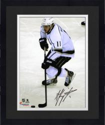 Framed Anze Kopitar Los Angeles Kings 2014 Stanley Cup Champions Autographed 8'' x 10'' with Puck Vertical Photograph - Mounted Memories