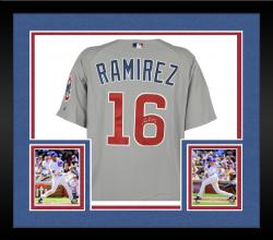 Framed Aramis Ramirez Chicago Cubs Autographed 2006 Game-Used Gray Road Jersey