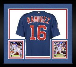 Framed Aramis Ramirez Chicago Cubs Autographed Game Used 2004 Blue Majestic Jersey with Game-Used 2004 Inscription