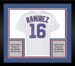 Framed Aramis Ramirez Chicago Cubs Autographed Replica Jersey