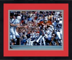 "Framed Archie Griffin Ohio State Buckeyes Autographed 16"" x 20"" Horizontal Scarlet Uniform Photograph with Heisman 74/75 Inscription"