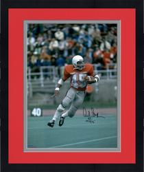 """Framed Archie Griffin Ohio State Buckeyes Autographed 16"""" x 20"""" Vertical Scarlet Uniform Photograph with Heisman 74/75 Inscription"""
