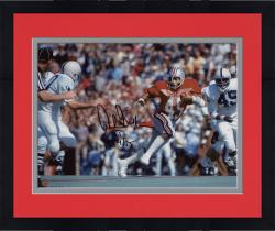 "Framed Archie Griffin Ohio State Buckeyes Autographed 8"" x 10"" Horizontal Scarlet Uniform Photograph with HT 1974/75 Inscription"