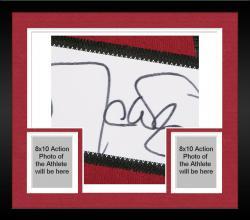 Framed Arizona Cardinals Matt Leinart Signed Reebok Premier Jersey