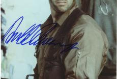 "Framed Arnold Schwarzenegger Autographed 8""x 10"" Predator Holding Gun Wearing Camouflage Photograph - PSA/DNA COA"