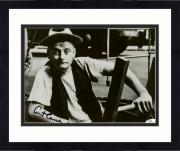 "Framed Art Carney Autographed 8"" x 10"" Sitting on Chair Black & White Photograph - JSA"