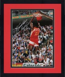 "Framed Atlanta Hawks Dominique Wilkins "" 85, 90 Dunk Champ"" Autographed 16"" x 20"" Photo"