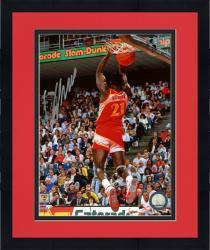 "Framed Atlanta Hawks Dominique Wilkins ""Human Highlight"" Autographed 8"" x 10"" Photo"