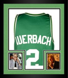 Framed AUERBACH, RED AUTO (1966 CELTICS) JERSEY (PSA/DNA)