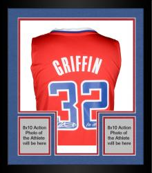 Framed Autographed Blake Griffin Jersey - adidas Swingman Red 11 ROY