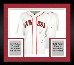 Framed David Ortiz Boston Red Sox 2013 World Series Champions Autographed Majestic Replica Home Jersey with 2013 WS Champ Inscription