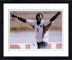 Framed Freddie Adu US Soccer Team Autographed 16'' x 20'' Celebration Photograph