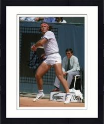 "Framed Guillermo Vilas Autographed 8"" x 10"" White Striped Shirt Photograph"