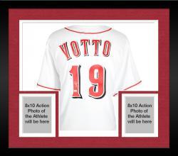 Framed Joey Votto Cincinnati Reds Autographed Majestic Replica White Jersey