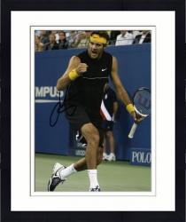 """Framed Juan Del Potro Autographed 8"""" x 10"""" Black Shirt Fist Pump Photograph"""