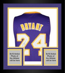 Framed Kobe Bryant Los Angeles Lakers Autographed adidas Swingman Purple Jersey