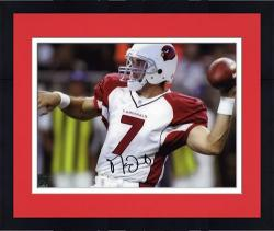 Framed Autographed Matt Leinart Photo - Arizona Cardinals 8x10 Mounted Memories