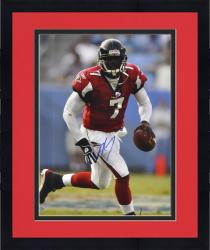 Framed Autographed Michael Vick Photograph - 16x20 Mounted Memories