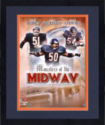 Framed Dick Butkus, Mike Singletary, & Brian Urlacher Chicago Bears Autographed 16'' x 20'' Collage Photograph