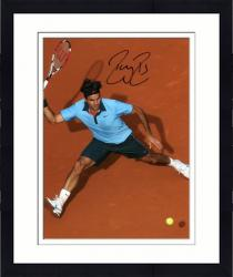 "Framed Roger Federer Autographed 8"" x 10"" Clay Shot Photograph"