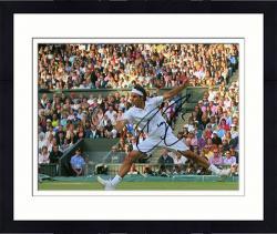 "Framed Roger Federer Autographed 8"" x 10"" White Horizontal Photograph"
