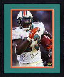 Framed Autographed Ronnie Brown Photo - Miami Dolphins 8x10 Mounted Memories