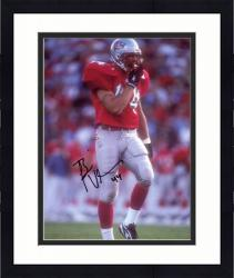 "Framed Brian Urlacher New Mexico Lobos Autographed 8"" x 10"" Red Uniform Photograph"