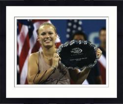 "Framed Caroline Wozniacki Autographed 8"" x 10"" 2009 US Open Photograph"