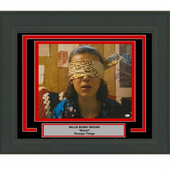 FRAMED Autographed/Signed MILLIE BOBBY BROWN Stranger Things 16x20 Photo BAS COA