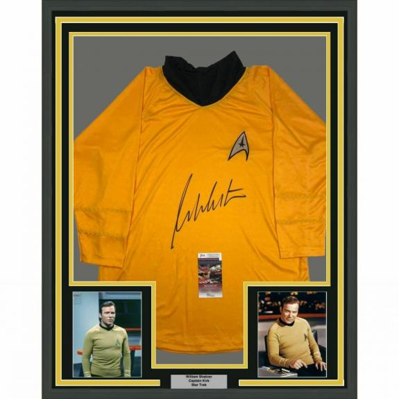 FRAMED Autographed/Signed WILLIAM SHATNER 33x42 Captain Kirk Shirt JSA COA Auto