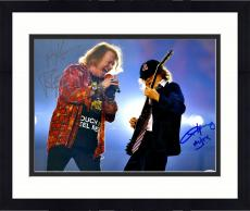 """Framed Axl Rose And Angus Young Autographed 11"""" x 14"""" AC DC And Guns N' Roses Photograph - PSA/DNA LOA"""