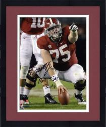 Framed Barrett Jones Alabama Crimson Tide 8'' x 10'' Autographed Photograph -