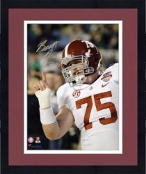 "Framed Barrett Jones Alabama Crimson Tide Autographed 8"" x 10"" Finger Wag Photograph"