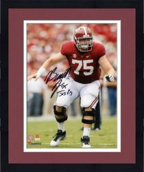 Framed Barrett Jones Alabama Crimson Tide Autographed 8'' x 10'' with Inscription 'Jos 1:9' Standing Photograph