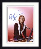 """Framed Barry Manilow Autographed 8""""x 10""""  Playing Piano in Black Shirt Photograph - Beckett COA"""