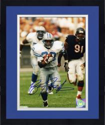 Framed Barry Sanders Detroit Lions Autographed 8'' x 10'' vs Chicago Bears Photograph