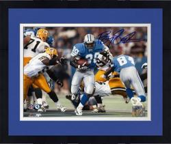 "Framed Barry Sanders Detroit Lions Autographed 8"" x 10"" vs Green Bay Packers Photograph"