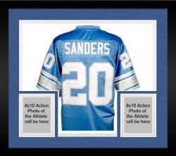Framed Barry Sanders Detroit Lions Autographed Pro Line Blue Jersey with 1997 MVP Inscription