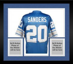 Framed Barry Sanders Detroit Lions Autographed Pro Line Blue Jersey with Multiple Inscriptions-#2-19 of a Limited Edition of 20