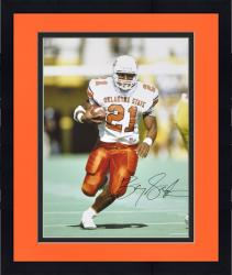 "Framed Barry Sanders Oklahoma State Cowboys Autographed 16"" x 20"" Ball in Right Hand Photograph"