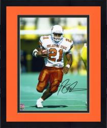 "Framed Barry Sanders Oklahoma State Cowboys Autographed 8"" x 10"" Photograph -"