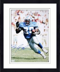 Framed Barry Sanders Signed Picture - 16x20 Mounted Memories
