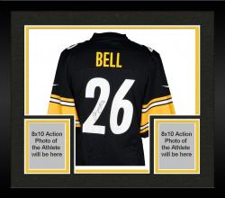 Framed Le'Veon Bell Pittsburgh Steelers Autographed Nike NFL Game Jersey